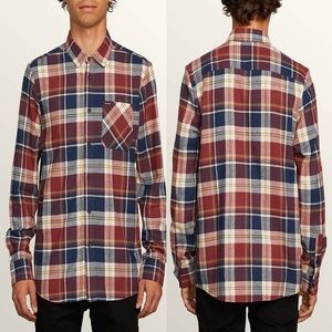 Volcom Caden Classic Flannel Button Up Plaid Shirt